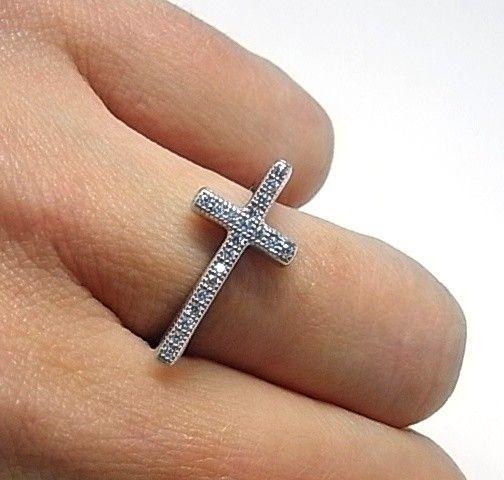 14122-Sortija-cruz-circonitas Anillo cruz circonitas