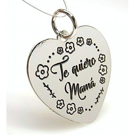 """16061-Colgante-corazon-Te-quiero-mama Colgante corazón """" Te quiero mamá """""""