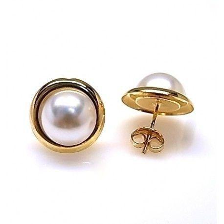 16104-Pendiente-mperla-10mm-chapado Pendiente m/perla 10mm chapado