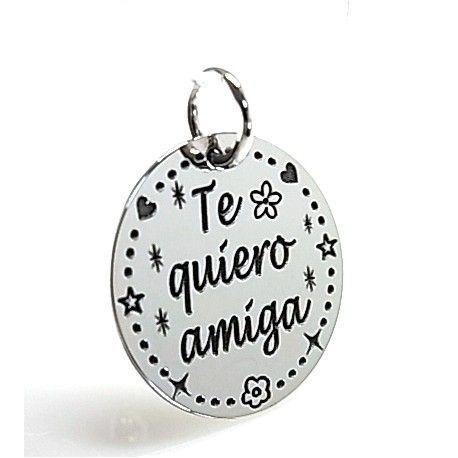 """16117-Colgante-Te-quiero-amiga Colgante """" Te quiero amiga """""""
