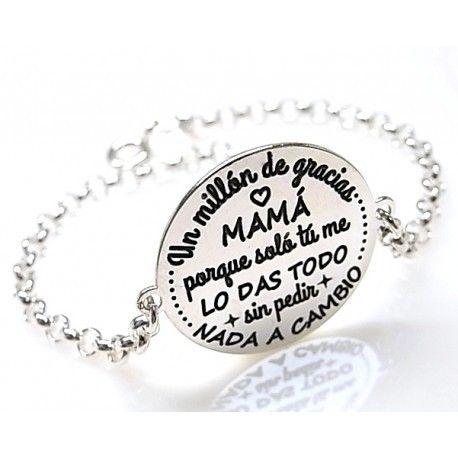 """16137-Pulsera-Un-millon-de-gracias-mama Pulsera """" Un millón de gracias mamá """""""