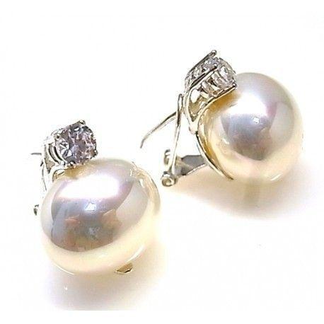 16158-Pendiente-perla-shell Pendiente perla shell