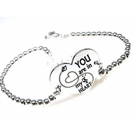 "16164-Pulsera-bolas-You-are-in-my-heart Pulsera bolas "" You are in my heart """