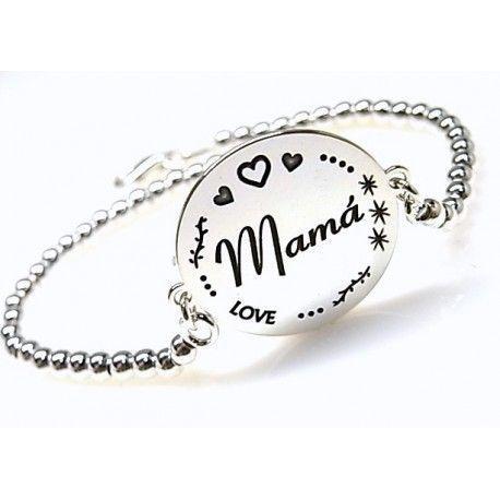 """16170-Pulsera-bolas-Mama-love Pulsera bolas """" Mamá """" love"""