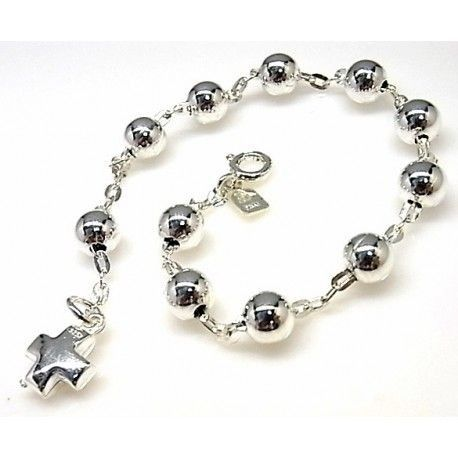 16230-Pulsera-rosario-bolas-cruz Pulsera rosario bolas cruz