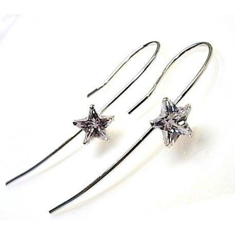 16289-Pendiente-aguja-piedra-estrella Pendiente aguja piedra estrella