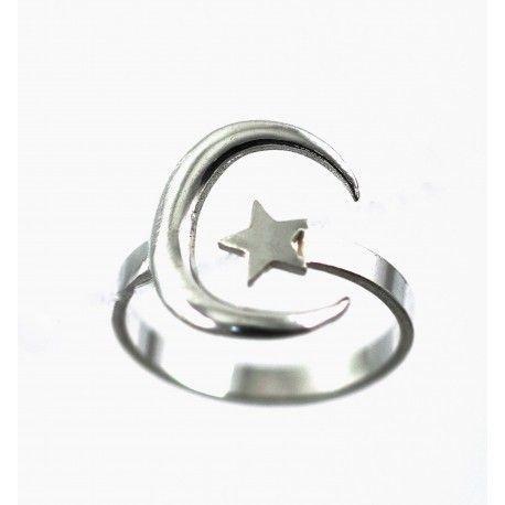 16493-Sortija-luna-estrella Anillo luna - estrella