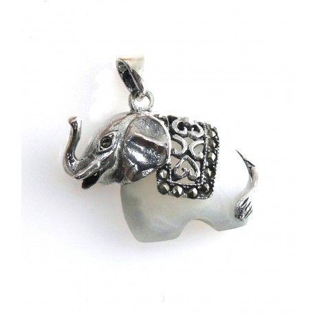 16664-Colgante-elefante-nacar Colgante elefante nacar