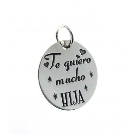 "16851-Colgante-Te-quiero-mucho-HIJA Colgante "" Te quiero mucho HIJA """