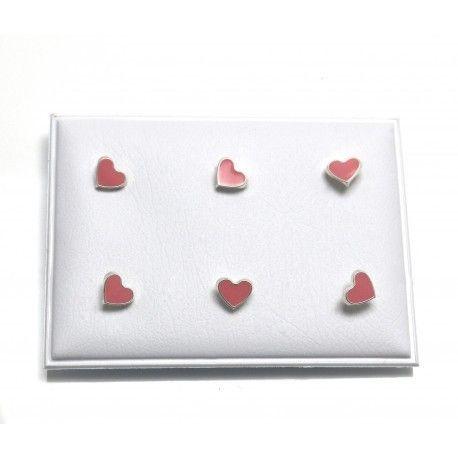 16963-Pendiente-corazon-infantil-esmalte Pendiente corazón infantil esmalte
