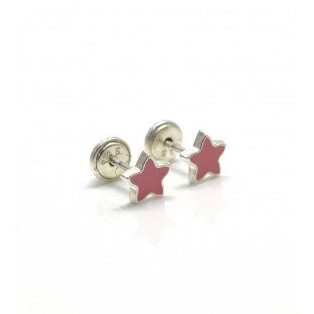 16964-Pendiente-estrella-infantil-esmalte Pendiente estrella infantil esmalte