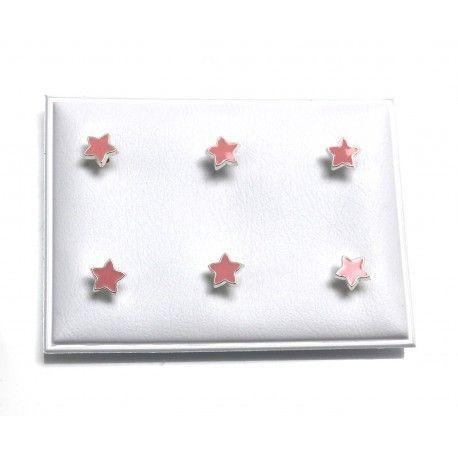 16965-Pendiente-estrella-infantil-esmalte Pendiente estrella infantil esmalte
