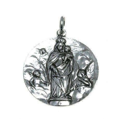 17037-Colgante-medalla-Virgen-del-Pilar Colgante medalla Virgen del Pilar