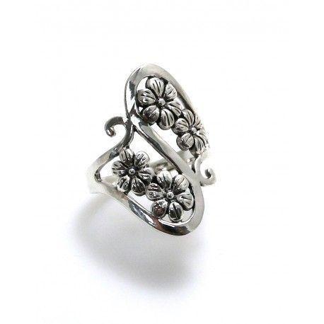 17135-Sortija-flores-lisa Anillo flores lisa