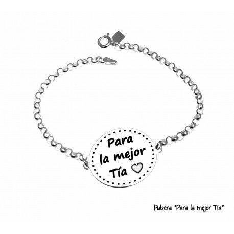 """17168-Pulsera-Para-la-mejor-tia Pulsera """"Para la mejor tia """""""