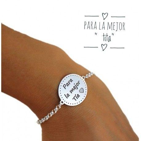 """17169-Pulsera-Para-la-mejor-tia Pulsera """"Para la mejor tia """""""