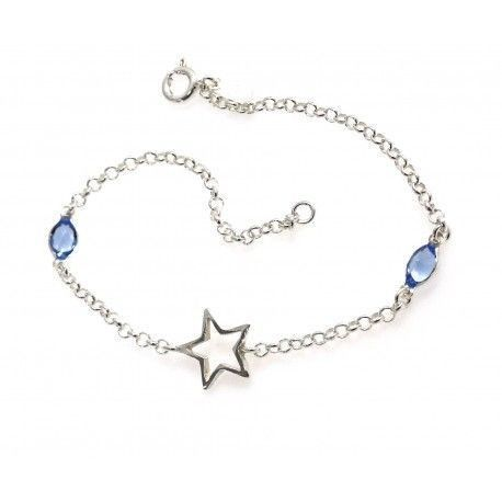 17189-Pulsera-estrella-piedra-color Pulsera estrella piedra color
