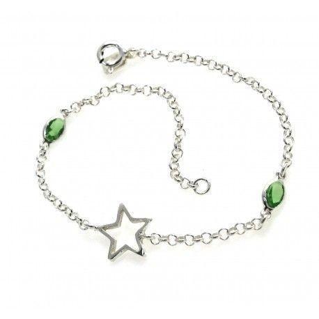17190-Pulsera-estrella-piedra-color Pulsera estrella piedra color