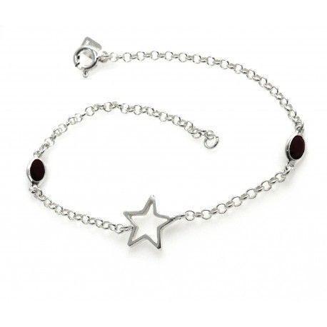 17191-Pulsera-estrella-piedra-color Pulsera estrella piedra color