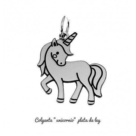 17358-Colgante-unicornio Colgante unicornio