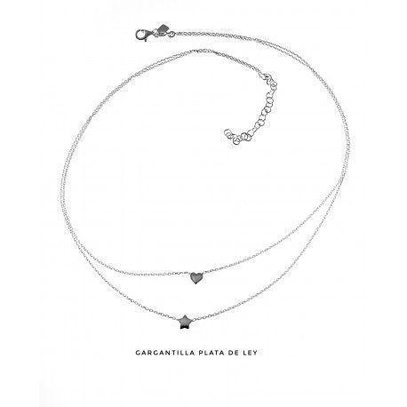 17381-Gargantilla-doble-estrella-y-corazon Gargantilla doble estrella y corazón