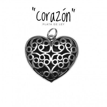 17398-Colgante-electroforming-corazon Colgante electroforming corazón