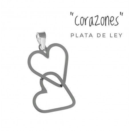 17503-Colgante-corazon-entrelazado-doble Colgante corazón entrelazado doble