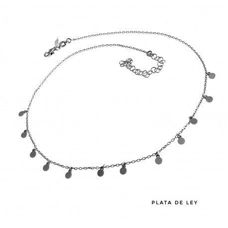 17623-Gargantilla-discos-colgando Gargantilla rodiada discos colgando