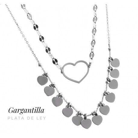 17625-Gargantilla-doble-corazones Gargantilla doble corazones