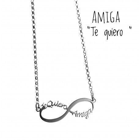 """17630-Gargantilla-infinito-amiga-te-quiero Gargantilla infinito """" amiga te quiero"""""""