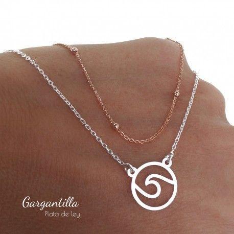 29502 Gargantilla bicolor ola