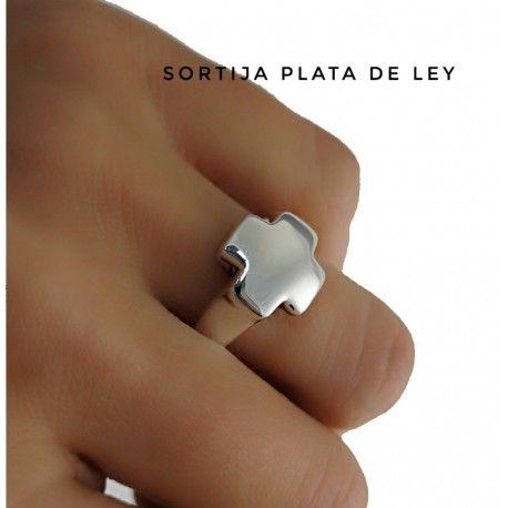 30824 Sortija cruz electroforming