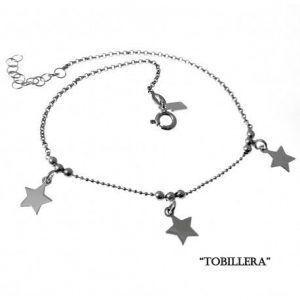 33074-300x300 Tobillera rodiada estrellas colgando