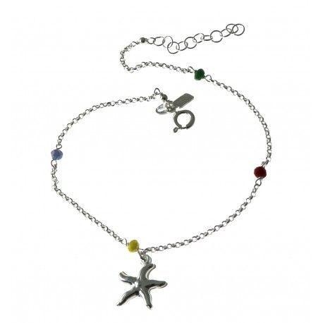 33084 Tobillera piedra color estrella de mar