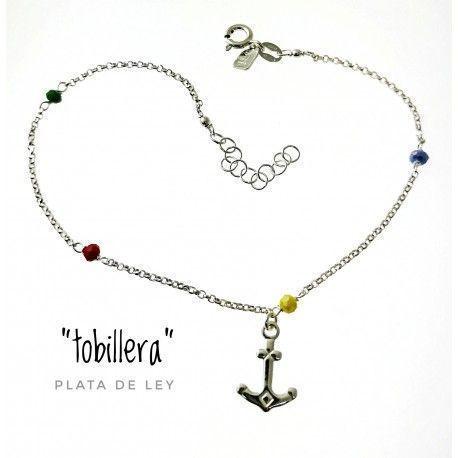 33086 Tobillera piedra color ancla