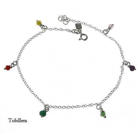 33114-1 Tobillera piedra color
