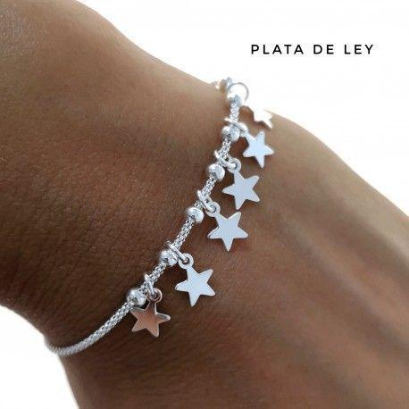33257.2 Pulsera cadena coreana estrellas
