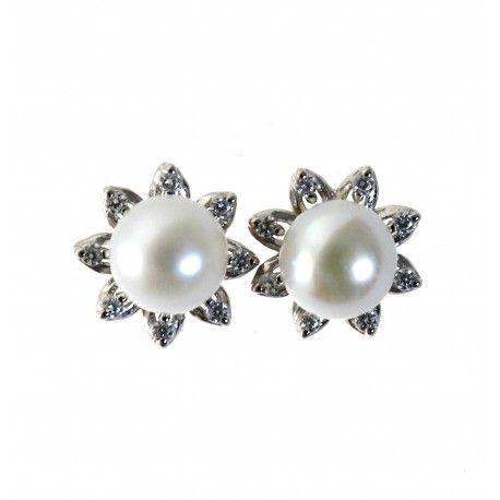 31326 Pendiente perla circonitas