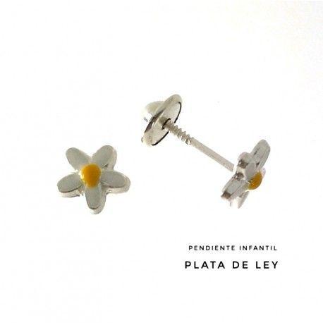 33194 Pendiente infantil flor esmalte