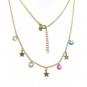 33400-300x300 Gargantilla chapada estrellas y piedra color