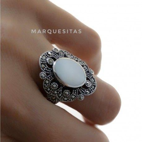 31261 Anillo marquesitas nacar