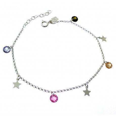 33674 Pulsera piedra color estrellas