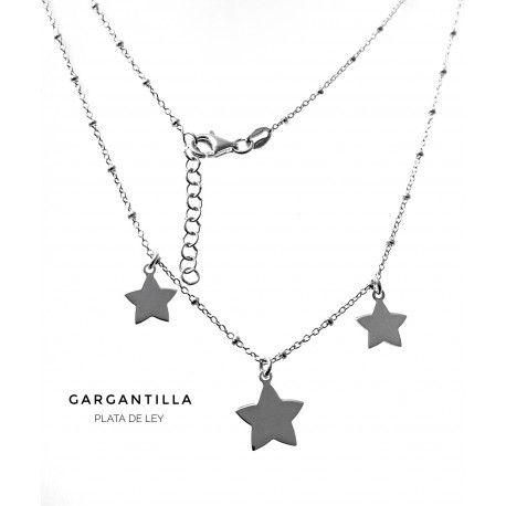 33718 Gargantilla estrellas colgando