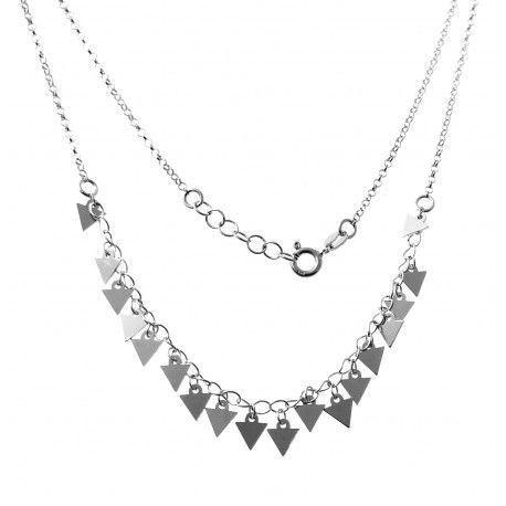 33808 Gargantilla rodiada triángulos