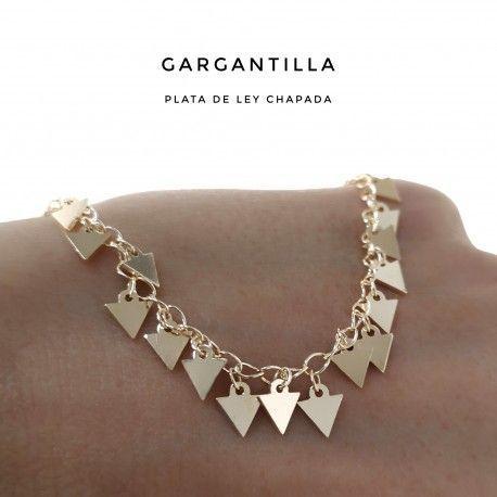 33809.2 Gargantilla chapada triángulos