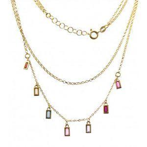 33840-300x300 Gargantilla chapada doble cadena barretas de colores