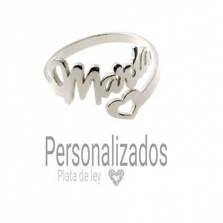 33928 Anillo corazón nombre personalizado