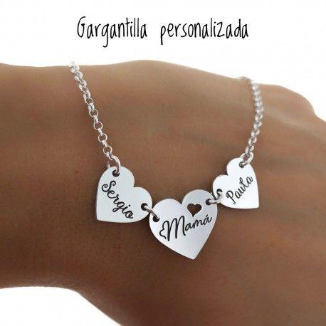 33398 Gargantilla personalizada corazones