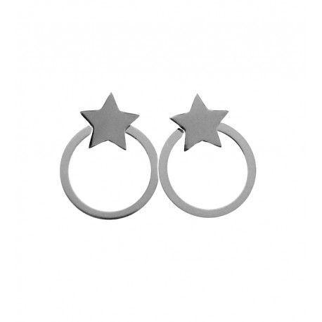 33556 Pendiente aro estrella desmontable