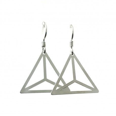 33626-1 Pendiente triángulo hippie